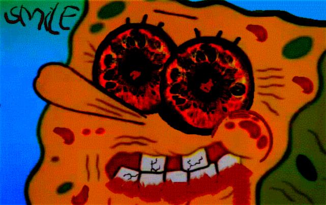 Creepy Spongebob Face of Spongebob's Creepy Face