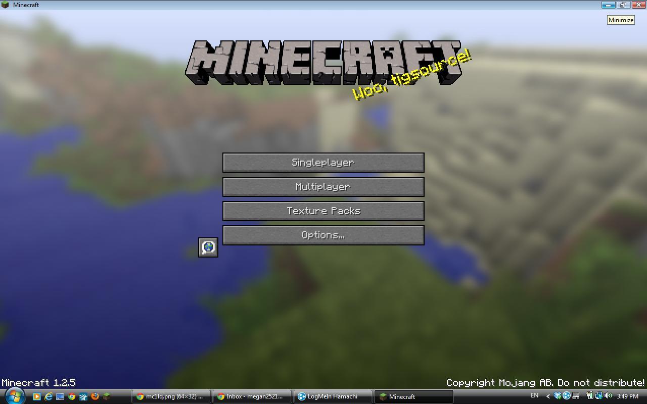 Minecraft Beta Title Screen