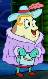 Mrs. Puff Wearing Fancy Clothes