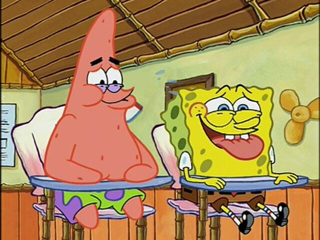 File:Patrick & Spongebob Laughing.jpg