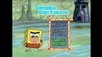 SpongeBob Goes Prehistoric (DVD) - Menu