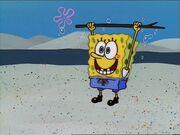 Spongebob Holding 1 Stick