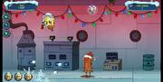 Operation Holiday Hero SpongeBob flying