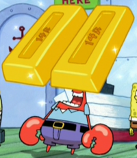 Mr. Krabs with Gold Bar Eyes