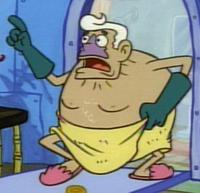 Mermaid Man Wearing a Towel