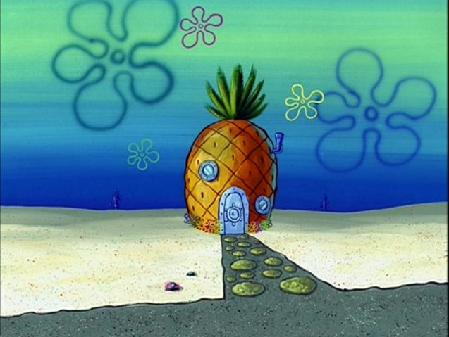 File:SpongeBob's pineapple house in Season 3-4.png