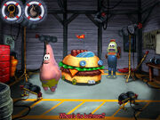 3d Patrick, The 3d Krabby Patty Wagon, & 1 Fish