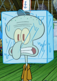 Squidward with a Frozen Head