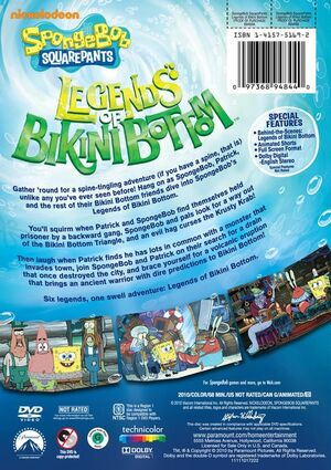 Legends of Bikini Bottom DVD Back Cover