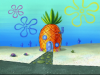 SpongeBob's pineapple house in Season 8-5