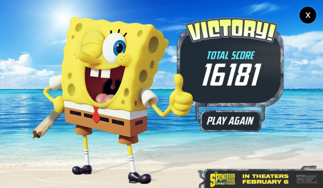 File:The SpongeBob Movie - Sponge Out of Water - Save the Krabby Patty - Victory!.png