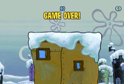 Spongebob Winter RUNerland Game Over