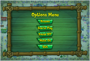 Atlantis Squarepantis Bus Rush Options Menu