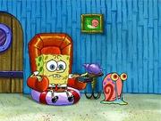SpongeBob Watching TV With Gary
