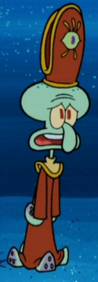 Squidward Wearing HIs Cephalopod Lodge Outfit