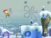 Spongebob Winter RUNerland Spongebob jumping