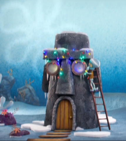 File:Squidward's House in It's a SpongeBob Christmas.png