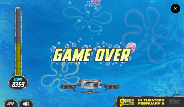 File:The SpongeBob Movie - Sponge Out of Water - Save the Krabby Patty - Game Over.png