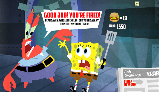 File:SpongeBob, You're Fired! (online game) - Good job! You're fired! (Mr. Krabs).png