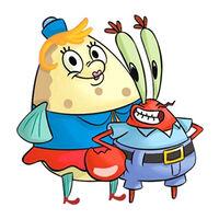 SpongeBob SquarePants - Mr. Krabs and Mrs. Puff DVD Art