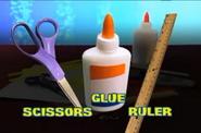 Scissors Glue Ruler