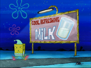 Cool, refreshing milk