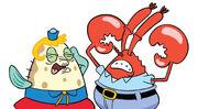 SpongeBob SquarePants - Mrs. Puff and Mr. Krabs Illustrated