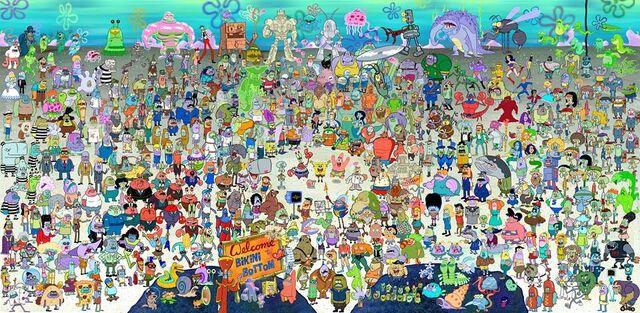 File:SpongeBob SquarePants characters from all the seasons.jpg