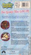 Spongebob Squarepants The Sponge Who Could Fly VHS Back Cover