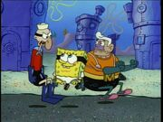 Mermaid Man, Barnacle Boy, & SpongeBob (All In The Invisible Boat Mobile)