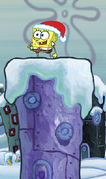 Spongebob Winter RUNerland Spongebob on purple building