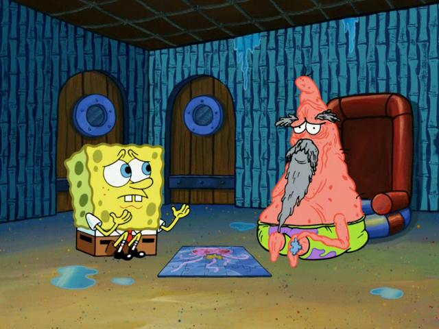 File:SpongeBob with Aging Fast Patrick.png