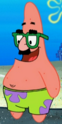 Patrick Wearing the Groucho Glasees