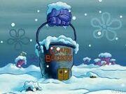 The chum bucket in winter