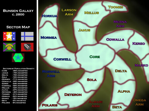 Bunsen Sector Map 2800AD