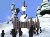 Impaled snowman