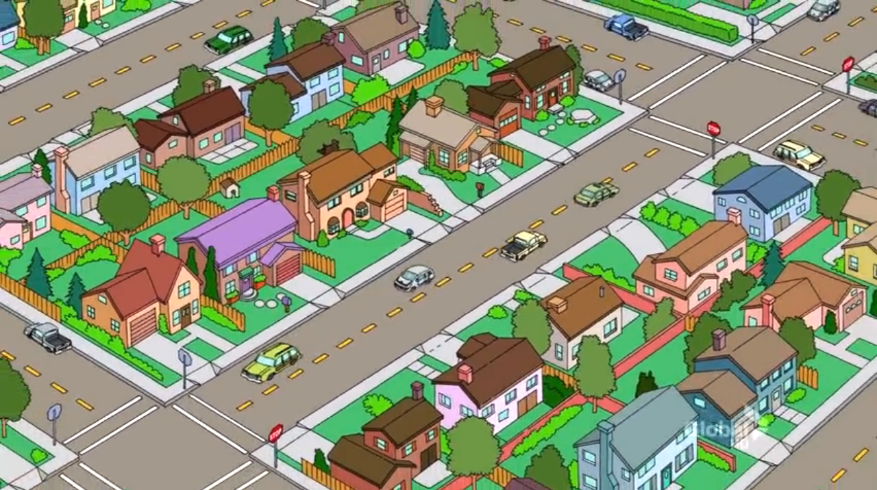 Simpsons springfield map evergreen terrace for 742 evergreen terrace springfield