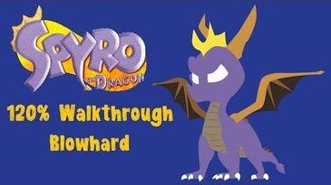 Spyro the Dragon 120% Walkthrough - 18 - Blowhard