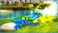 Zap using his Lightning attack