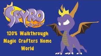 Spyro the Dragon 120% Walkthrough - 13 - Magic Crafters Home World