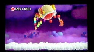 Yoshi's Woolly World Knot Wing Miniboss battle part 3 ( No Damage)