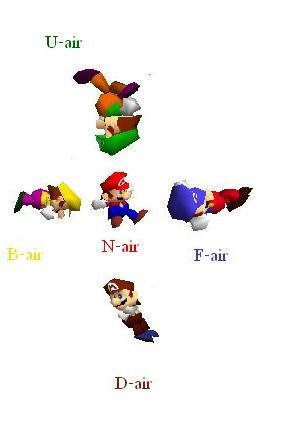 Mario air attacks ssb
