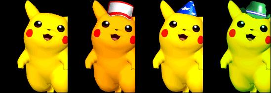 PikachuColorsMelee