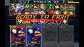 Super Smash Bros. Melee - Same Color Glitch
