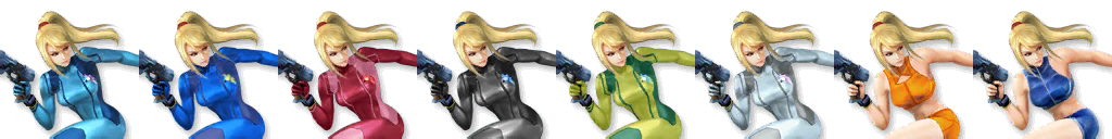 Zero suit samus ssb4 alternate costume