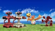 Game and Watch, Two R.O.B.s, and Riki