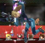 Zero Suit Samus screen ko