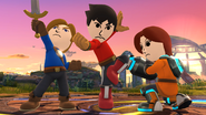 SSB4-Wii U Congratulations Mii Fighter Classic