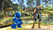 Marth & Mega Man SSB4