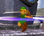 Young Link's Spin Attack Move